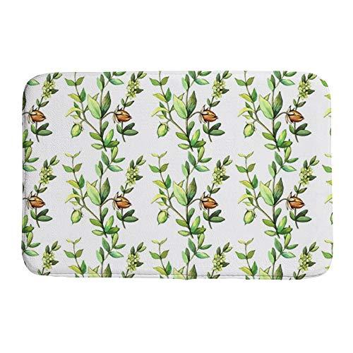 Ocean Runner Pump - DKISEE Indoor Outdoor Entrance Rug Floor Mat Bathmat Eamless Watercolor Lavender Plants Doormat