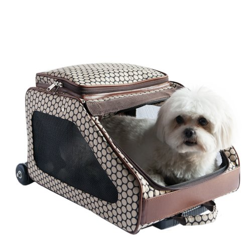 Cheap Petote Rio Bag On Wheels Pet Carrier, Noir Dots