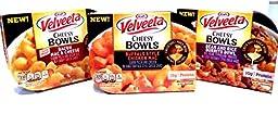 Kraft, Velveeta, NEW FLAVORS! Cheesy Bowls VARIETY 6 PACK: 2 Bowls of BEAN AND RICE BURRITO, 2 Bowls of BUFFALO STYLE CHICKEN MAC, 2 Bowls of BACON MAC & CHEESE. 9 oz. Bowls (6 PACK)