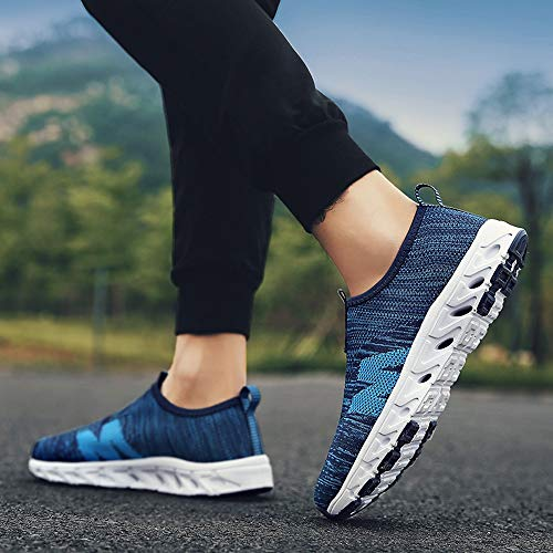 Farjing Men Outdoor Casual Breathable Mesh Comfortable Running Shoes Sneakers(US:10,Blue) by Farjing (Image #2)