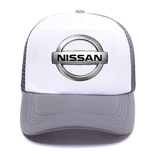 D66KA2 Trucker Men Hat Car Béisbol de Gray Boy Gorras Women Girl Niss Logo Baseball for Caps PawtPE