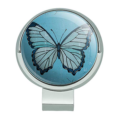- GRAPHICS & MORE Butterfly Artsy Blue Golf Hat Clip with Magnetic Ball Marker