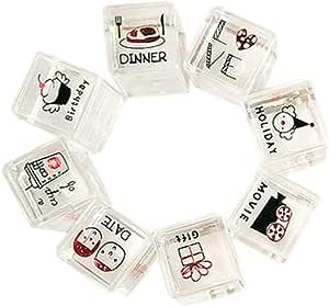 Black Temptation Sellos creativos Sellos de plástico Sellos para Carta / Diario / Escritura (8 Piezas) #2: Amazon.es: Juguetes y juegos