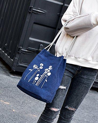 Taglia Borsa Donna unica Borsone Da Tracolla Borse Shopper Blu Vintage Borsetta Viaggio nHgzHwq6W