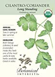 Cilantro Certified Organic Heirloom Seeds 200 Seeds
