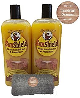 Lovely Howard SunShield Outside Wax For Wood, 2 X16 Ounce Bottles, Furniture Wax  With UV