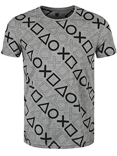 Playstation - T-Shirt - komplett bedruckt -L-
