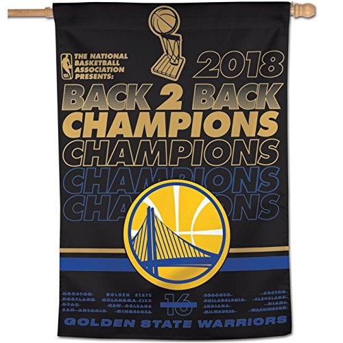 WinCraft NBA Golden State Warriors 2018 Basketball Champions Vertical Flag, 28 x 40-inches by WinCraft