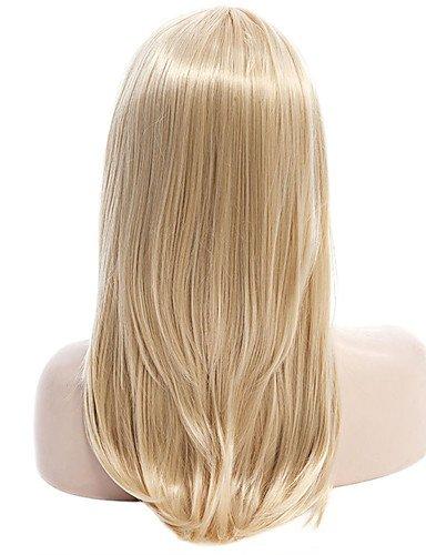 de color rubio de calidad superior de las pelucas sintéticas de pelo estilo  de Europa  6297f921b28c