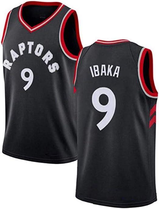 Camiseta De Baloncesto para Hombre Serge Ibaka # 9 - NBA Toronto Raptors, Camisa Sin Mangas De New Swingman Jersey Bordada En Tela - Campeona De La NBA,S:165~170cm/50~65kg: Amazon.es: Hogar