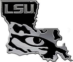 Louisiana State Tigers LSU Tiger Eye w/ State Solid Metal Chrome Emblem