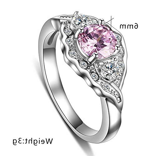 - Campton Chic Pink Sapphire Size 6-9 Stainless Steel Womens Wedding Bridal Rings Gift | Model RNG - 1468 | 9