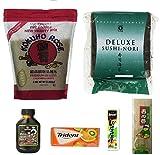 Sushi Kit Including Sushi Rice, Sushi Nori, Wasabi , Unagi Sushi Sauce ,Sushi mat, Trident Gum