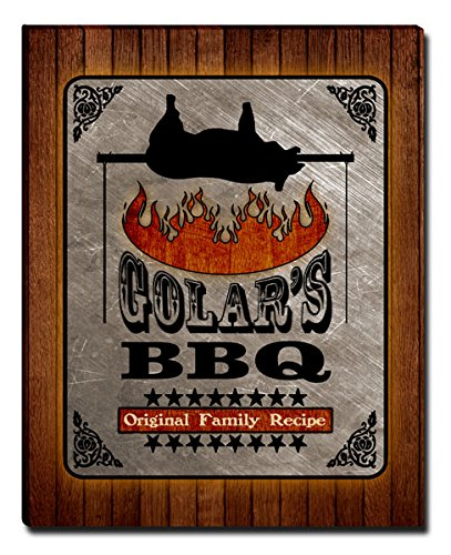 Golars Barbecue Bbq Gallery Wrapped Canvas Print