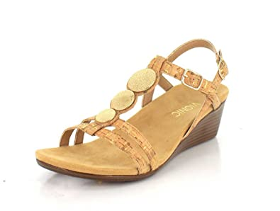 a343adac87fd Image Unavailable. Image not available for. Color  Vionic Women s Noleen Gold  Cork Wedge