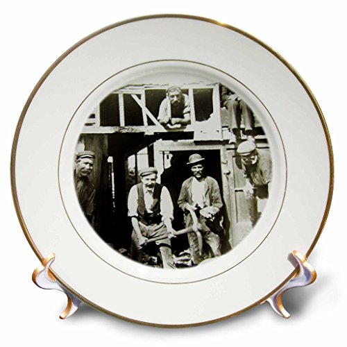 3dRose Scenes from the Past Magic Lantern Slides - Vintage Edwardian British Workers Circa 1910 - 8 inch Porcelain Plate (cp_269851_1)