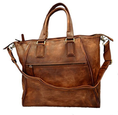 Leather ladies handbag brown shopper shopping bag shoulder bag luxury bag women handbag washed leather women leather vintage leather purse by ItalianHandbags