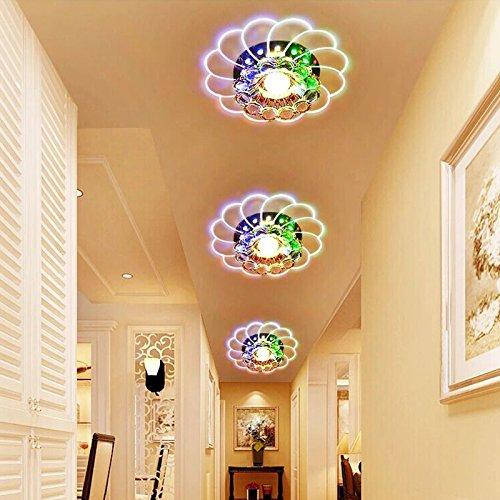 Zehui LED Ceiling Lamp for Hallway Bedroom Kitchen Decor Modern Colorful 5W Crystal Chandelier by Zehui (Image #4)