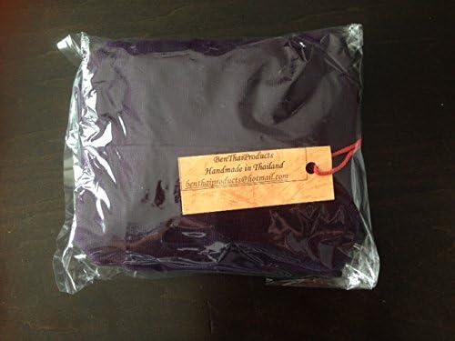 Thai Monk Buddha Cotton Sling Crossbody Messenger Bag Purse Hippie Hobo Chocolate Brown Medium M3 BTP