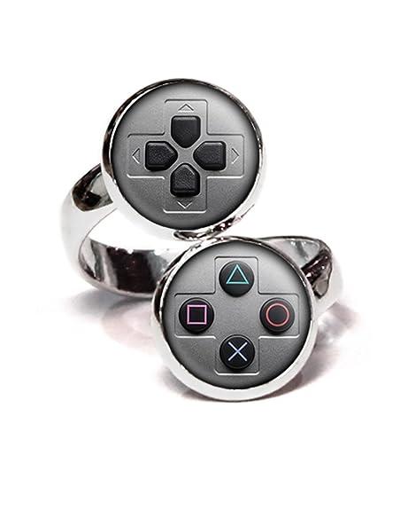 Playstation Anillo, PS Controlador de PS4 joyas, SNES Gaming ...