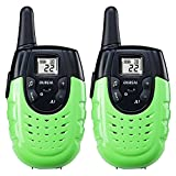 OUREAL Walkie Talkies for Kids Long Distance Two-Way Radio 2 Packs Green