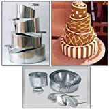 "Mini Topsy Turvy 4 Tier Round Cake Pans Tins New Design By EuroTins 5"" 7"" 9"" 11"