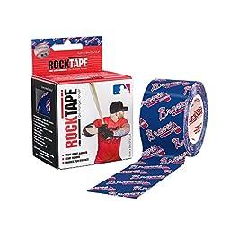 RockTape Major League Baseball Kinesiology Tape for Athletes (2-Inch x 16.4-Feet) Atlanta Braves