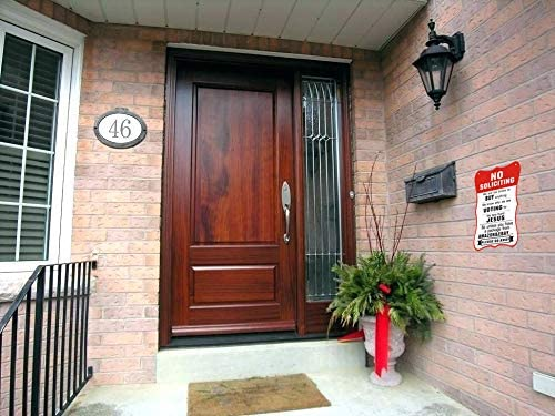 CORNERIA 8X10 Funny No Soliciting Signs No Solicitor Sign for House Door Business Unless You Have A Package from  Yard Signs