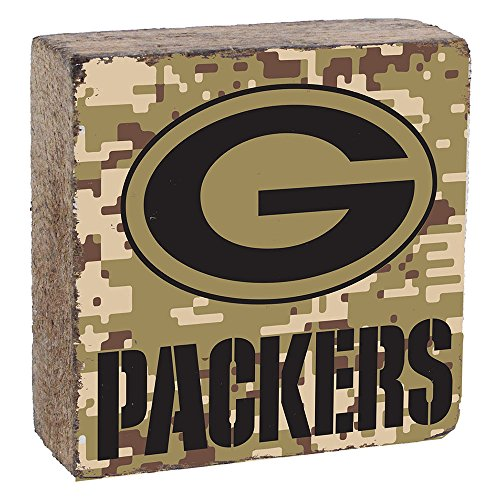 (NFL Green Bay Packers, Camo Logo Block by Rustic Marlin, 6