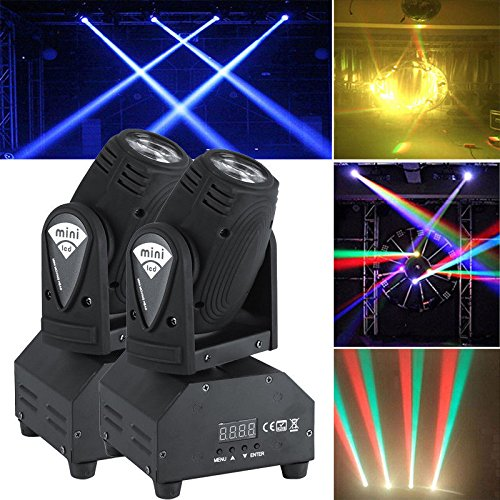 2x50W LED Mini Lichteffekt Bü hnenlicht Moving Head Licht DMX512 Sound RGBW YOSOO