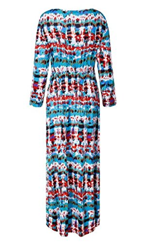 Tunic Sleeve Single Sleeve Printing Maxi Coolred Long Breasted As1 Front Long Women Open Dresses pwEwqHRz