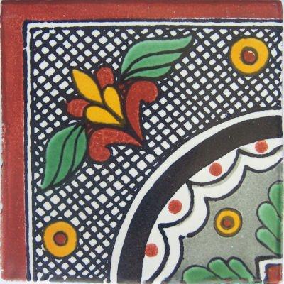 Amazon.com: 4.2 x 4.2 9 piezas negro Arc esquina de Talavera ...