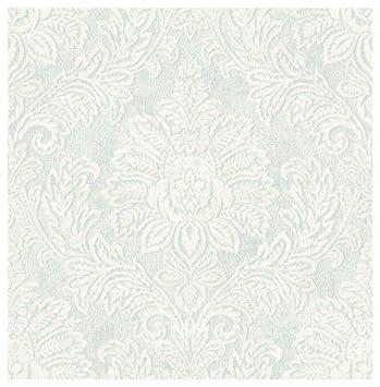Wallquest   Papier Peint Classique Avec Damas Dans Les Tons Du Blanc Et  Bleu Dm20802 Document