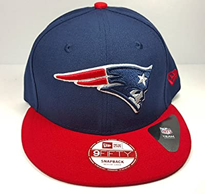 New Era New England Patriots 9Fifty Bind Back Blue On Field Adjustable Snapback Hat Cap NFL by New Era