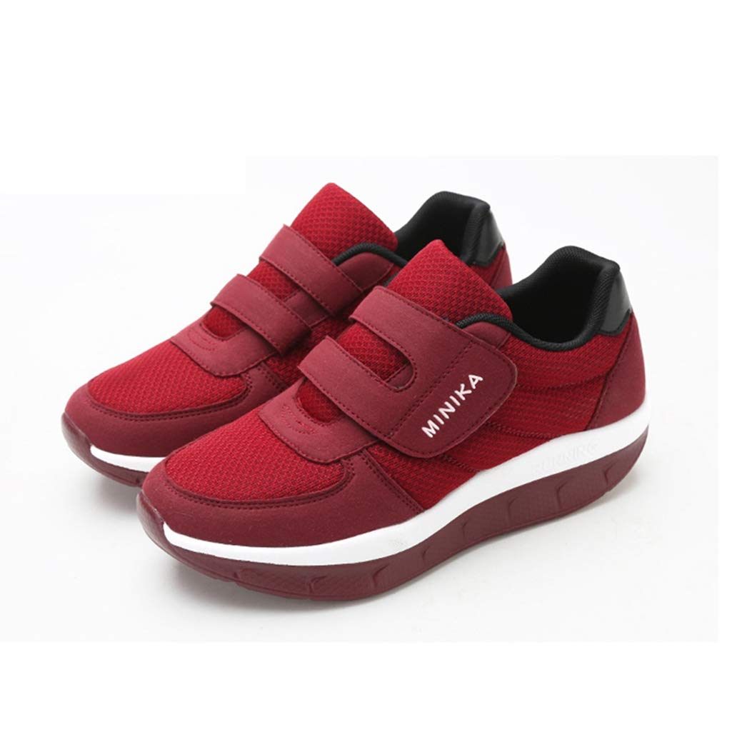 e456ad8fa7ac6 ASO-SLING Women Platform Wedges Sneakers Tennis Walking Comfortable  Lightweight Casual Fitness Shoes