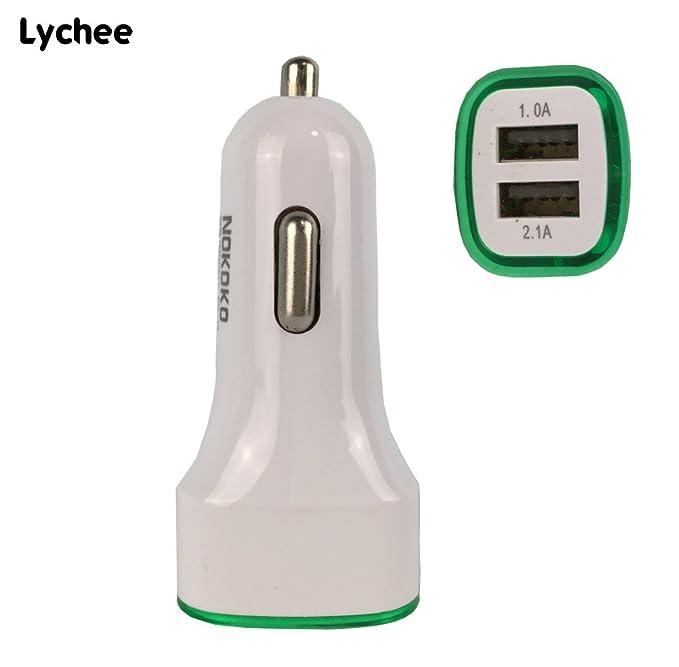 Lychee 3.1 A Mini Coche Cargador Dual USB Cargador de Coche ...