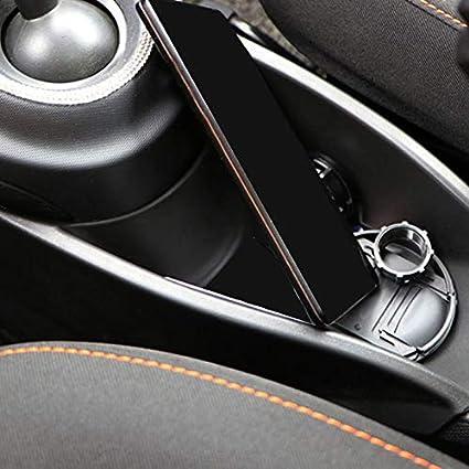 Bestlymood para Mercedes Nuevo Smart 453 Fortwo Forfour Reposabrazos Centro Caja Central Control Caja de Almacenamiento de Engranajes Accesorios de Dise?O de Autom/óViles Negro