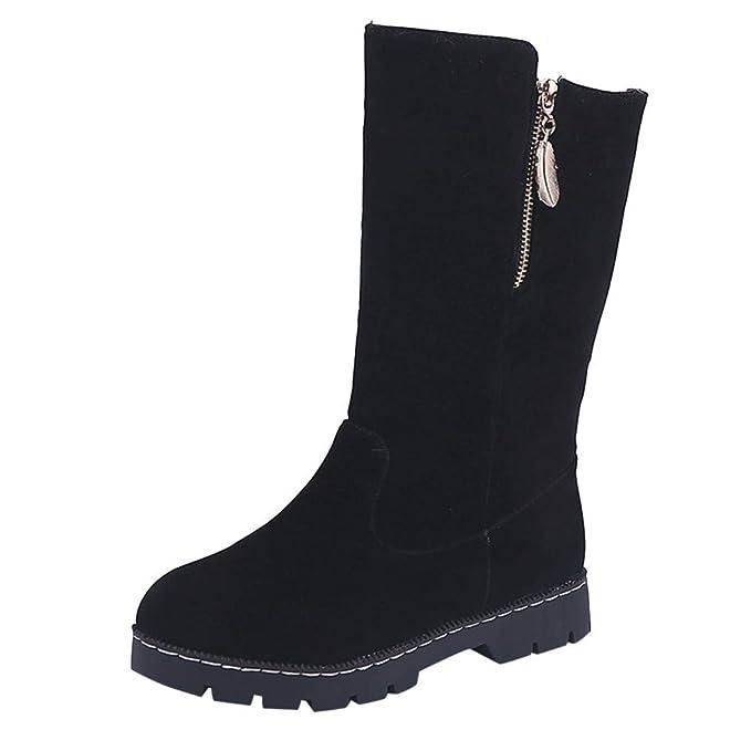 LANSKRLSP Stivaletti da Donna Stivali Invernali da Neve Caldi Scarpe Zeppa  Platform Warm Lined Casual Pull On Boots  Amazon.it  Abbigliamento 9ad01270150