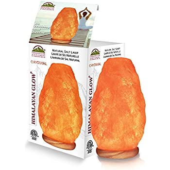 Himalayan Glow 1000 Natural Himalayan Pink Salt Lamp, (4 To 5 Lbs) 5 To 6 Inch. ETL Certified, Natural Himalayan Pink Salt Night Lamp with Genuine Neem Wood Base, Bulb and Dimmable or Brightness Control Switch