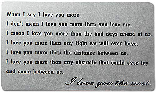 CQNET Engraved Wallet Insert Anniversary Gifts for Men, Metal Wallet Card Insert, Mini Love Note, Anniversary Cards for Husband, Boyfriend Gifts ()