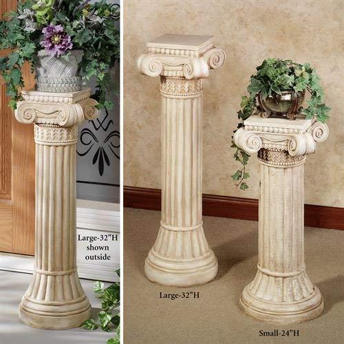 - Ionic Pedestal Column Ivory Wash