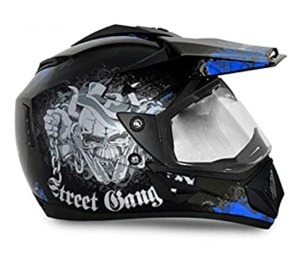 6d6fbcba Image Unavailable. Image not available for. Colour: Vega Off Road Gangster  Full Face Helmet ...