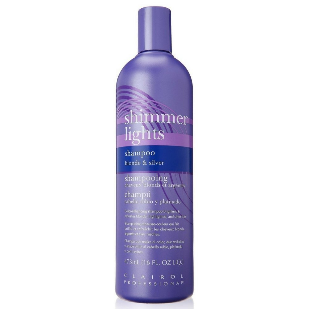 Clairol Professional Shimmer Lights Shampoo Blonde & Silver 16 oz (Pack of 2)