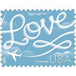 Love Skywriting USPS Forever First Class Postage Stamp U.S. Celebrate Love New Issue Valentine's Day Sheets (Sheet of 20 Stamps) (5 Pack)