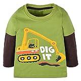 Qtake Fashion Boys Clothes car Style Tops Cotton Crewneck Long Sleeve Cartoon T-Shirt Children's Sweatshirt