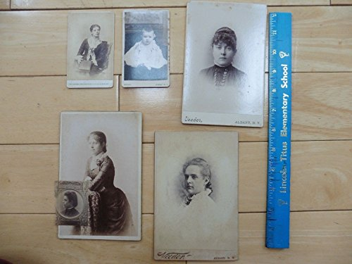 Civil War era 1800s Antique Cabinet Card photos vintage stamp portrait Albany NY