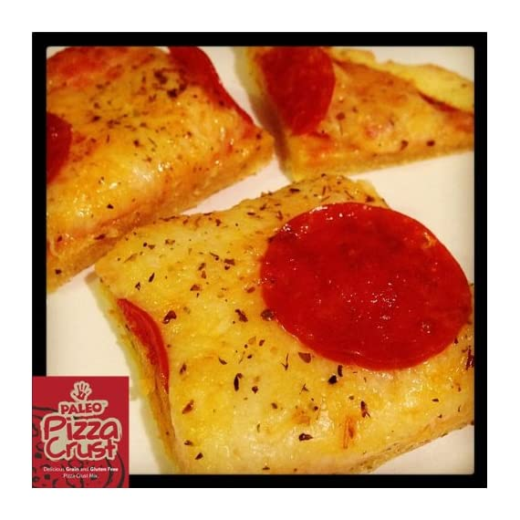 Paleo Pizza Crust Mix (2 Mix Pack) (Gluten-Free & Grain-Free) 12oz 9 Easy To Make Paleo Pizza Crust Mix (Enjoy Two Paleo Pizza Mix Packs) Amazing Flavor! Just Like Real Pizza! (Easy To Roll Our If You Apply Coconut Oil To Rolling Pin) 100% Paleo, Gluten Free, GMO Free, Grain Free, Pizza Crust Mix