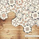 Wall Sticker, Self Adhesive Tile Art Floor Wall Decal Sticker DIY Kitchen Bathroom Decor Vinyl (D)