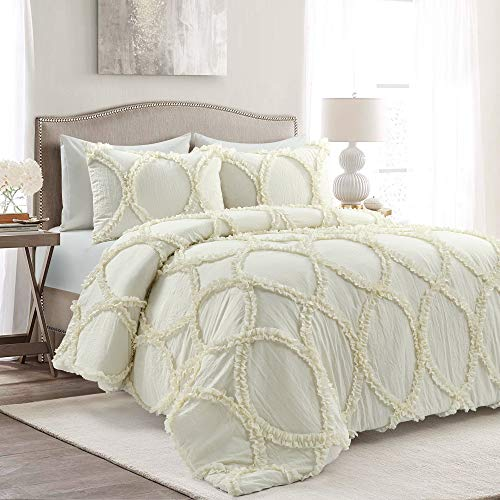 Lush Décor King 3pc Riviera Comforter Set Ivory