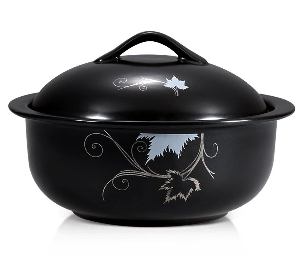 Potsポットホームwith Fire高温度Casserole Stew Potシチューセラミックスープポットスープポット健康スープポット韓国Casserole 1.5 Lキャセロール   B07F9BL4KH